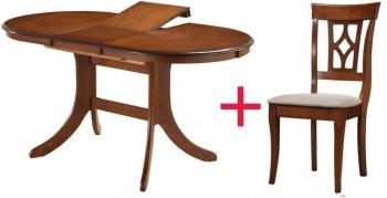 Комплект Стол Fabio 1200 + 4 стула Erdal 337