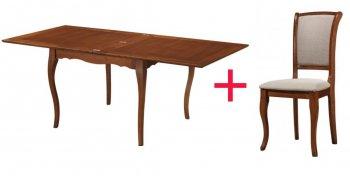 Комплект Стол Nicolas + 6 стул ев Farid
