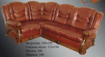 Кожаный угловой диван Наполеон