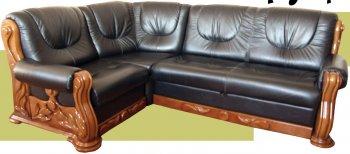 Кожаный угловой диван Триумф