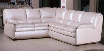 Кожаный угловой диван Чирз 2.35х2.95