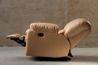 Кожаное кресло Чирз глидер-качалка
