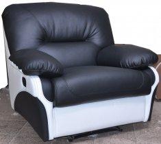 Кожаное кресло Чирз Н механический реклайнер
