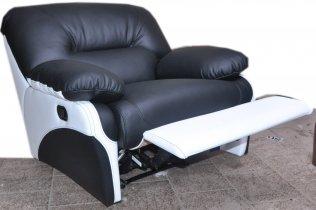 Кожаное кресло Чирз Н электрический реклайнер