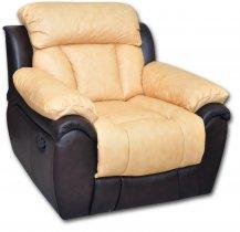 Кожаное кресло Бостон глидер-качалка