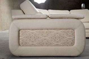 Модуль кожаного диван а Нью-Йорк подлокотник П1+вставка