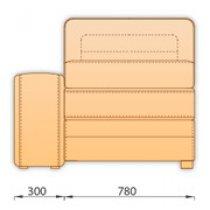 Модуль дивана Нью-Йорк 1 секция (1С65б/я)
