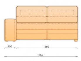 Модуль кожаного диван а Нью-Йорк 3Р 1.8