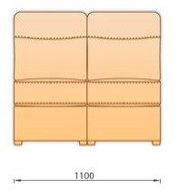 Модуль дивана Гермес 2 секция без подлокотника 2С110