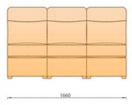 Модуль кожаного диван а Гермес 3СР 165