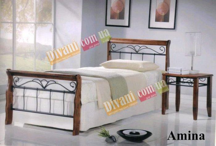 Односпальная кровать  Amina 190x90см