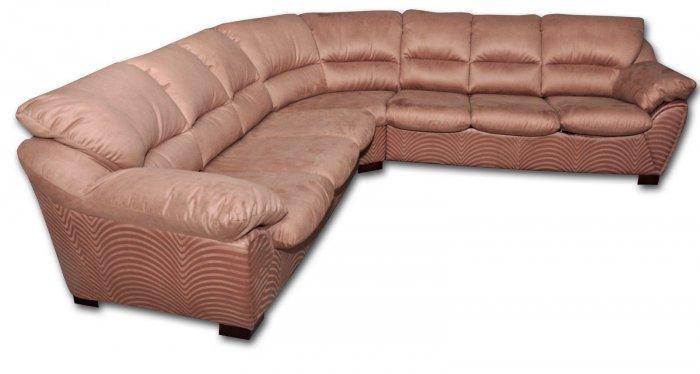 Кожаный угловой диван Калифорния 2.45х2.9