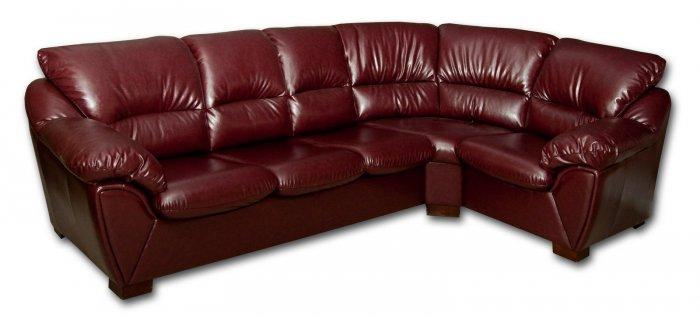 Кожаный угловой диван Калифорния 1.94х3.12