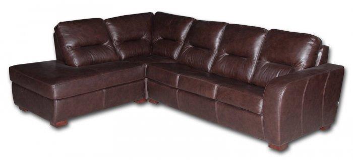Кожаный угловой диван Черчиль один подлокотник