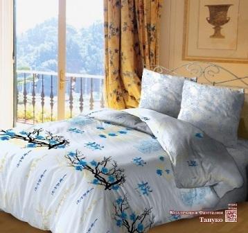 Семейный комплект постельного белья Тануко