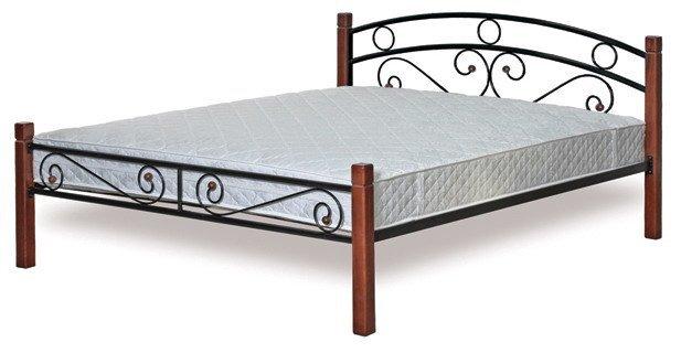 Полуторная кровать металлическая Малайзия 120x200см