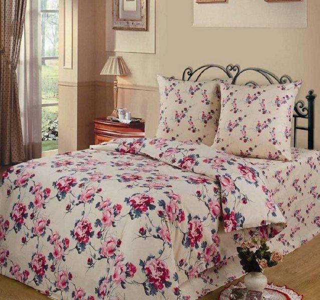 Евро комплект постельного белья Розовые грезы