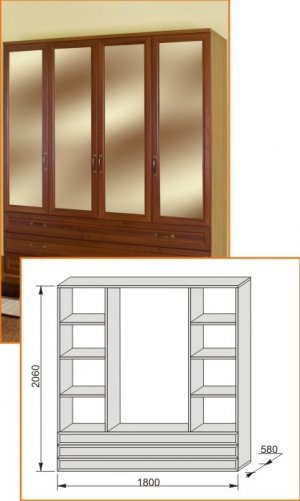 Шкаф 1800 Модена