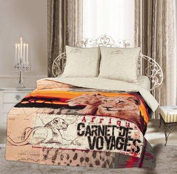 Двухспальный комплект постельного белья панно Леони