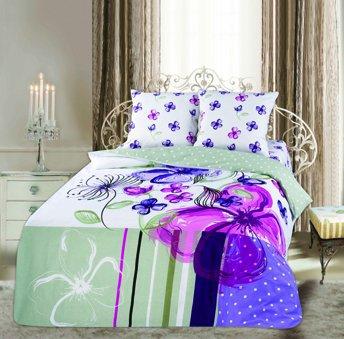 Двухспальный комплект постельного белья панно Эстель