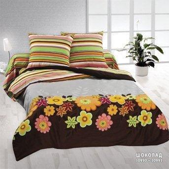 Семейный комплект постельного белья Шоколад