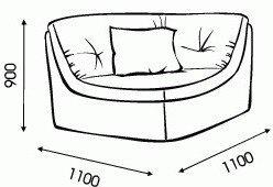 Модульный диван Ромира Шенген - угловой модуль