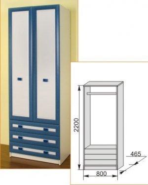 Шкаф 800 Твинс