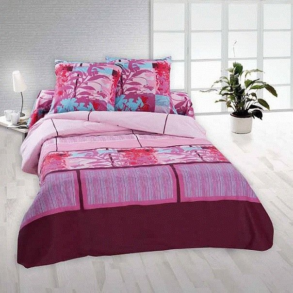 Полуторный комплект постельного белья Мисти