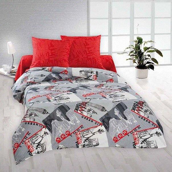 Полуторный комплект постельного белья Нью Йорк