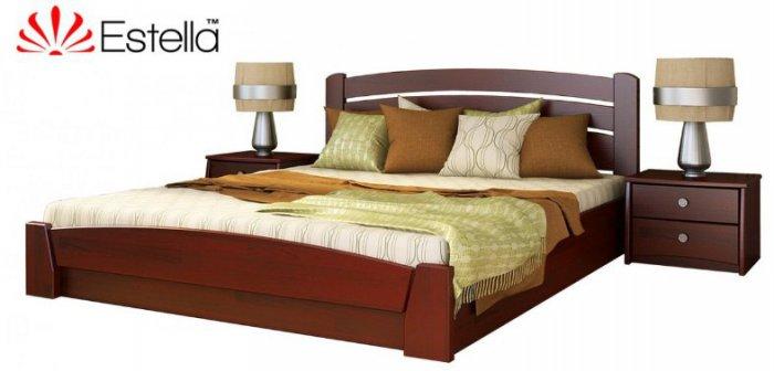 Полуторная кровать Селена-Аури - щит или массив