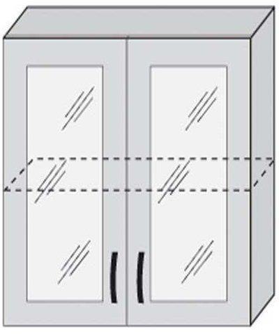 Верх 80 витрина для кухни Фантазия