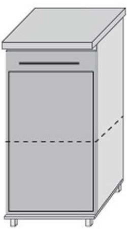 Низ 30 двери для кухни Плаза Марта