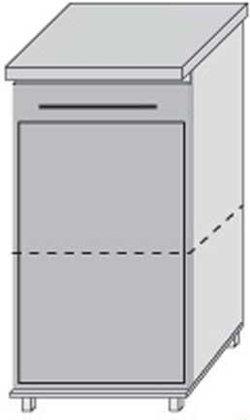 Низ 40 двери для кухни Плаза Марта