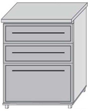 Низ 60 ящики для кухни Плаза Марта