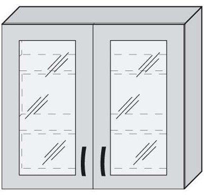 Верх 80 витрина для кухни Дебют