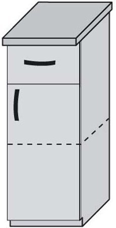 Низ 30 ящики для кухни Дебют