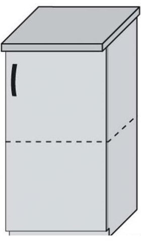 Низ 40 двери для кухни Дебют