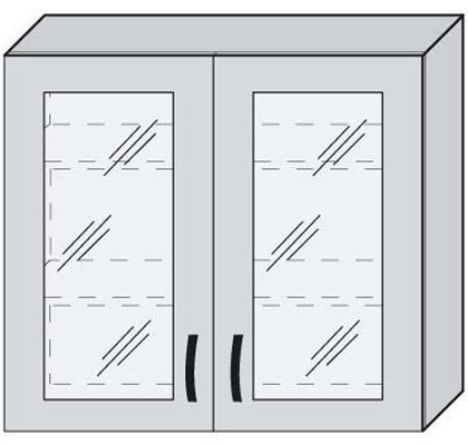 Верх 80 витрина для кухни Новая Мальва
