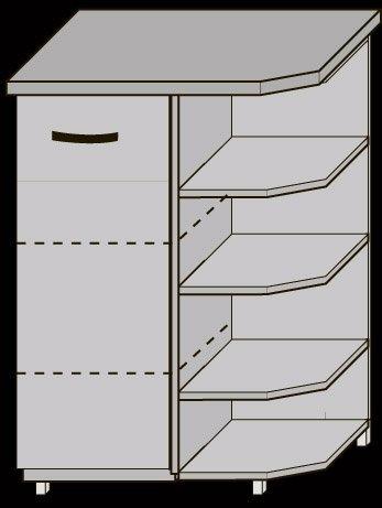 Угол 30 нижний двери/1050 для кухни Новая Мальва