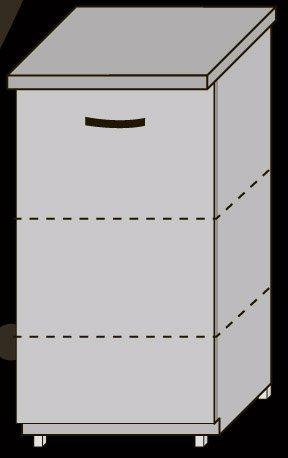 Низ 40 двери/1050 для кухни Новая Мальва