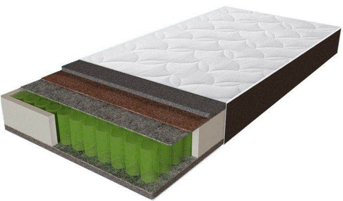 Односпальный матрас Sleep&Fly Organic Omega — 80x200 см