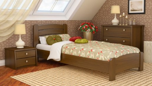 Односпальная кровать Венеция Люкс - 90х190-200см