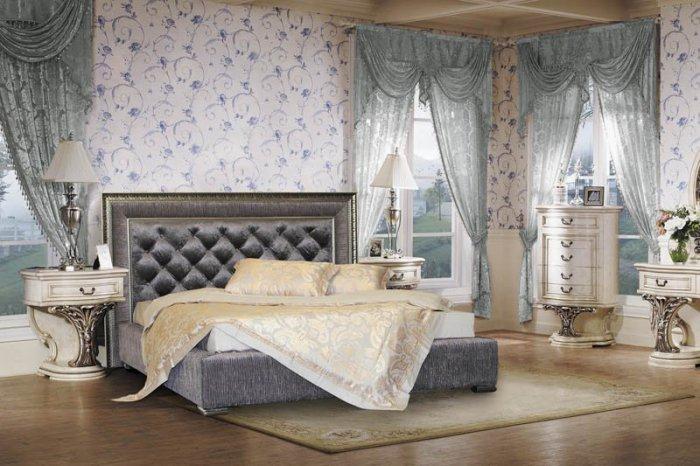 Двуспальная кровать Барокко с подъемным механизмом