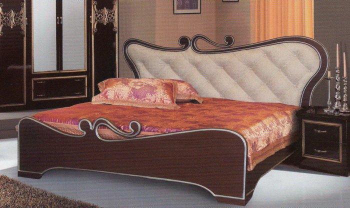 Двуспальная кровать Мулен Руж - патина