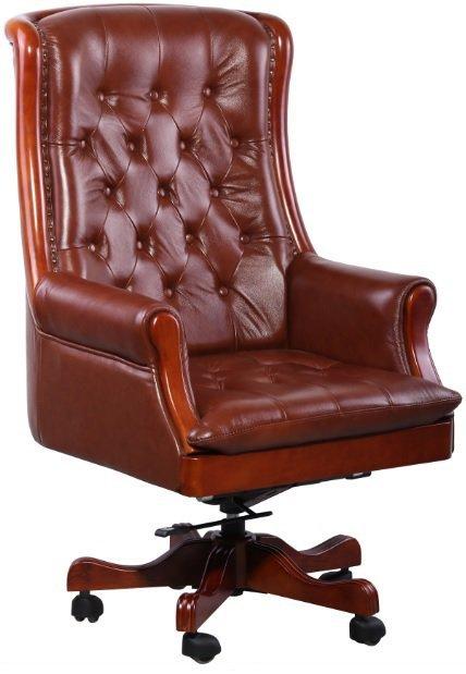 Кресло руководителя Линкольн - кожа люкс