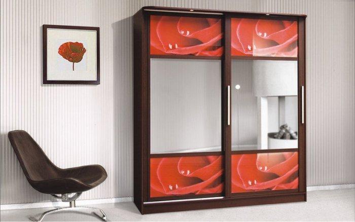 Шкаф-купе Монтре 2Д (цветное стекло)