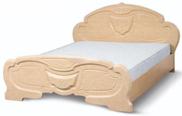 Двуспальная кровать 2-сп (без матраса. ламель) Венеция
