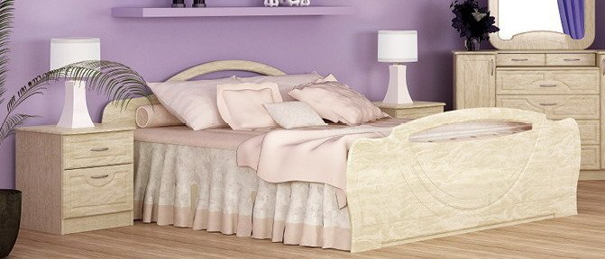 Полуторная кровать 1400 Антария Лак
