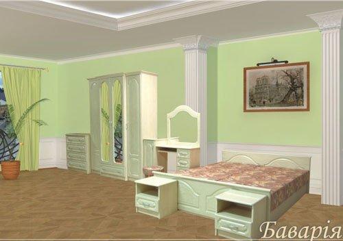 Модульная спальня Бавария ЛАК