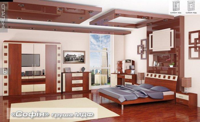 Модульная спальня София с 3х дверным шкафом